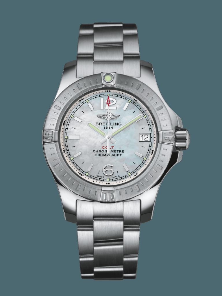 High Quality Knockoff Breitling Colt Lady Steel Pearl WT01501