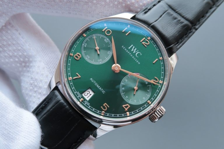 IWC Portuguese IW500708 Green Dial Rose Gold Markers WT01567