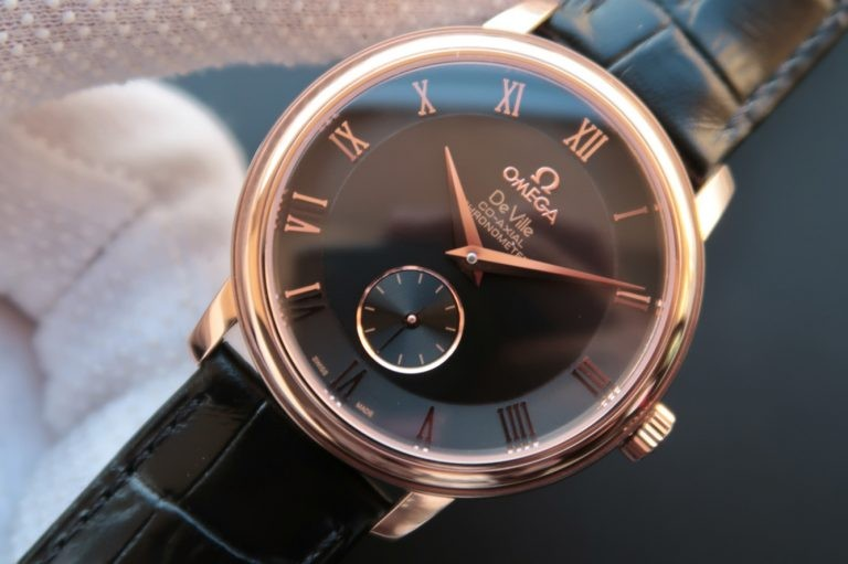 Omega MKF De Ville 39mm Co-Axial Black Dial Brown Leather WT01477