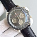 Best Omega Speedmaster apollo 17 40th anniversary Gray Dial Leather Strap Omega WT01787