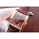 Cartier Tank MC Brown Dial Mark Brown Leather Strap WT01359