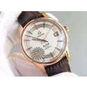 Omega V6F De Ville Hour Vision Co-Axial 41mm White Dial Brown Leather Strap Omega WT01072