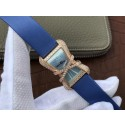 Top Cartier High Jewelry Watches WJ306014 Blue Dial Blue Fabric Strap Cartier WT00989