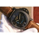 Top Fake Panerai PAM441 Carbotech Case Brown Asso Strap WT01457