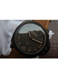 Best Knockoff Panerai PAM375 Brown Dial Brown Asso Strap WT01743