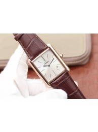 Cartier Tank White Dial Brown Leather Strap WT00964