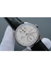 Fake IWC YLF Portuguese Regulateur White Dial Leather Strap WT00701