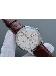 Imitation IWC YLF Portuguese Regulateur White Dial Gold Markers WT01269