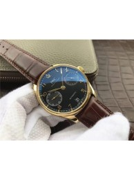 IWC Portuguese IW500101 Black Dial Leather Strap WT01273