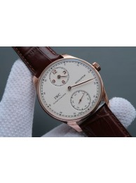 IWC YLF Portuguese Regulateur White Dial Gold Markers WT01013