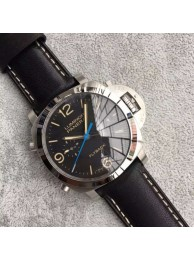 New Panerai PAM524 Fake Flyback Black Dial Leather Strap WT01257