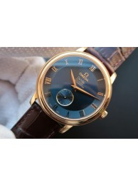 Omega MKF De Ville 39mm Co-Axial Blue Dial Brown Leather Omega WT01876