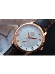 Omega MKF De Ville 39mm Co-Axial White Dial Brown Leather Strap WT01827