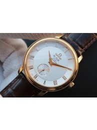 Quality Omega MKF De Ville 39mm Co-Axial White Dial Brown Leather Omega WT01886