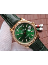 Rolex Day-Date 118138 Green Dial Green Leather Strap Rolex WT00571